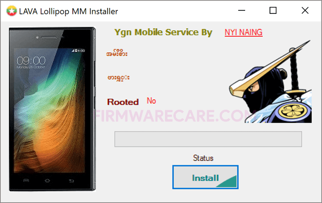 Lava Lollipop Myanmar Installer